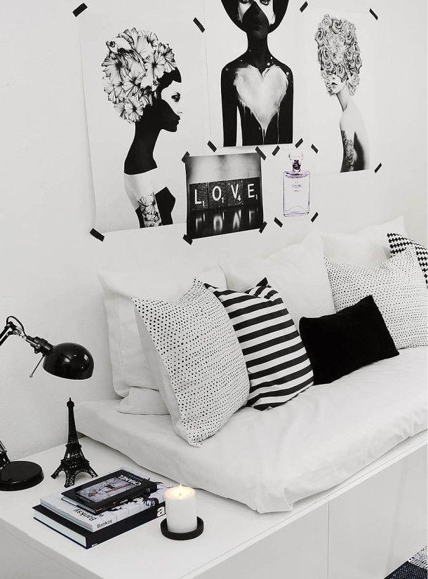 czarno biały